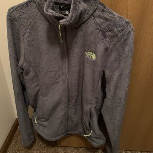 Nice north face fuzzy zip up sweater
